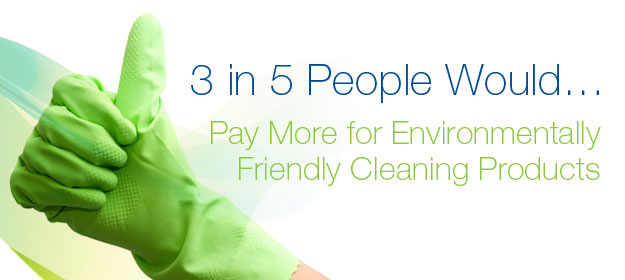 SURVEY: 3 in 5 People Would Pay More for Environmentally Friendly Cleaning Products