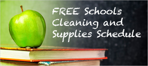 Schools Cleaning and Supplies Template
