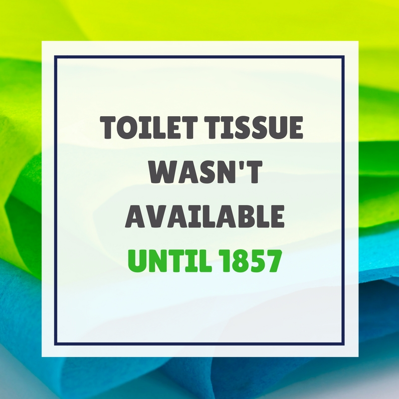 when was toilet tissue invented