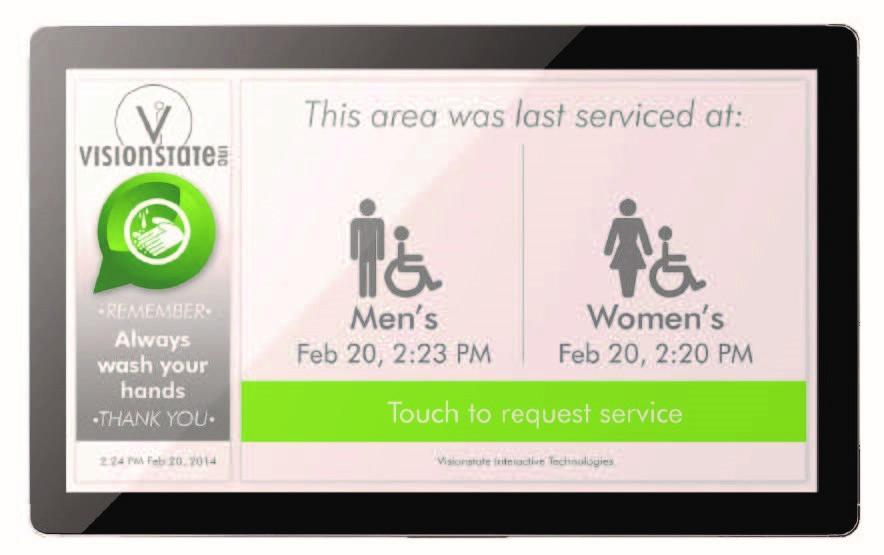 Washroom cleaning customer interface