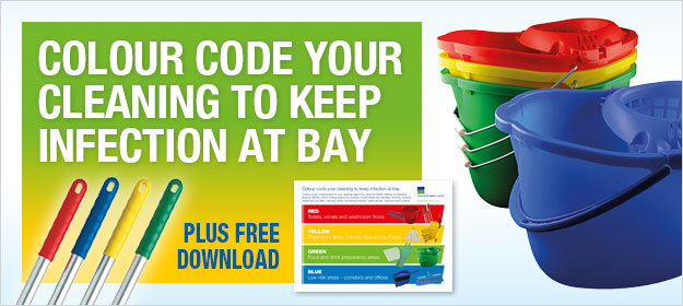 Colour code your cleaning to keep infection at bay – PLUS FREE INFOGRAPHIC