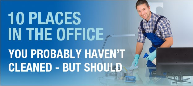 10 places in the office you probably haven't cleaned – but should
