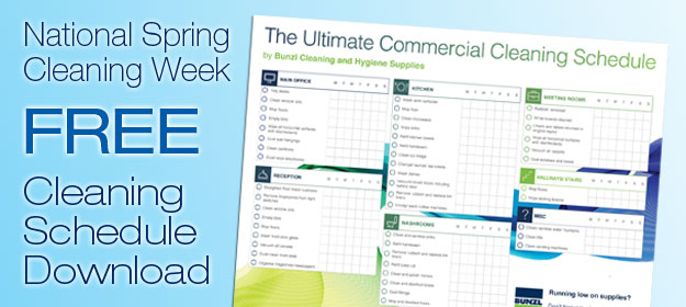 Commercial Cleaning Schedule Template
