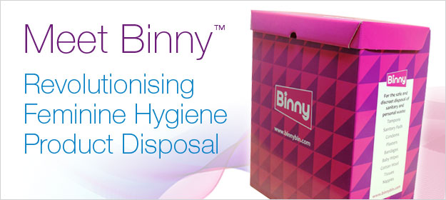 Meet Binny™: The Product that is Revolutionising Feminine Hygiene Product Disposal