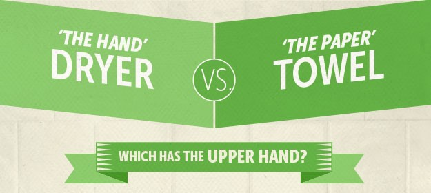 Hot Air Hand Dryers Vs Paper Towels: Which Has The Upper Hand? [INFOGRAPHIC]