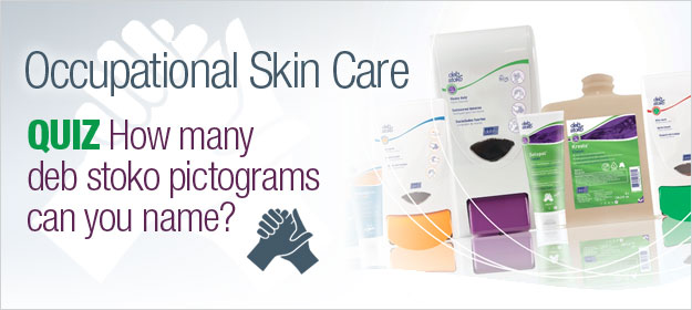 Occupational Skin Care Quiz: How Many Deb Stoko Pictograms Can You Name?