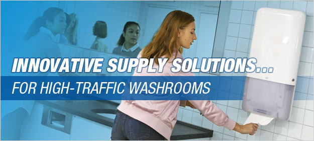 innovative supply solutions for high traffic washrooms