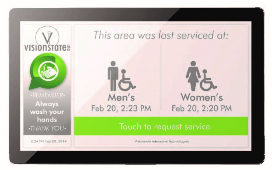 Washroom cleaning customer interface