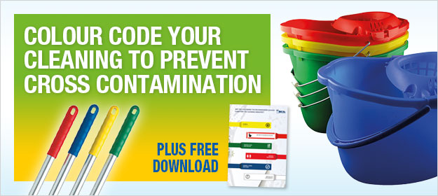 Colour code your cleaning to prevent cross contamination